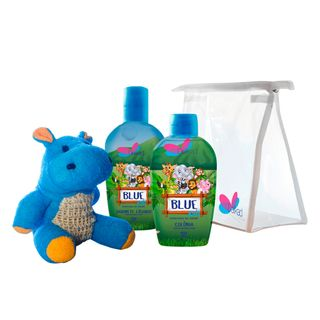Kit-Delikad-Kids-Safari-Hyppo-Blue---Colonia---Sabonete-Liquido