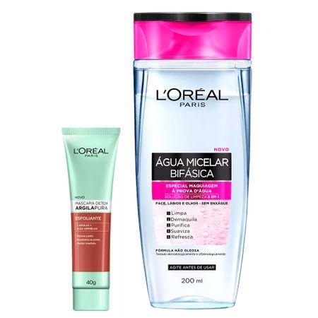 L'Oréal Paris Kit - Água Micelar 5 em 1 + Detox Argila Pura Esfoliante - Kit