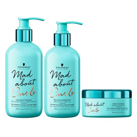 Schwarzkopf Mad About Curls Low Kit - Cond + Sh + Máscara - Kit