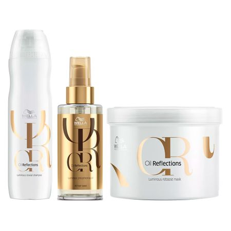 Wella Professionals Oil Reflections Kit - Sh+ Óleo Luminous + Máscara - Kit