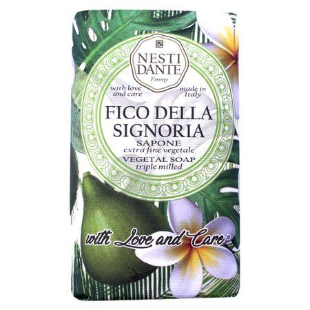 Sabonete em Barra Nesti Dante -  With Love and Care Figo e Frangipani - 250g