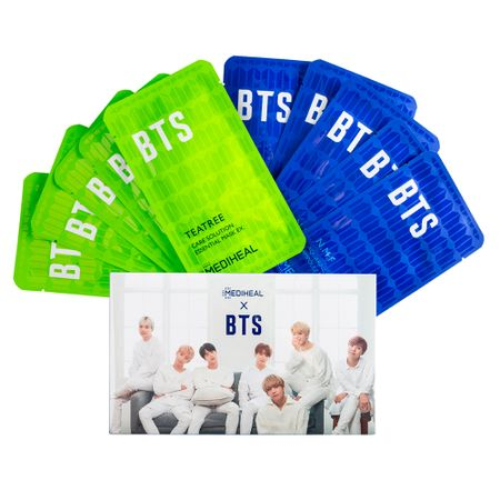 Mediheal Kit - Máscaras Faciais + Photocard BTS - Kit