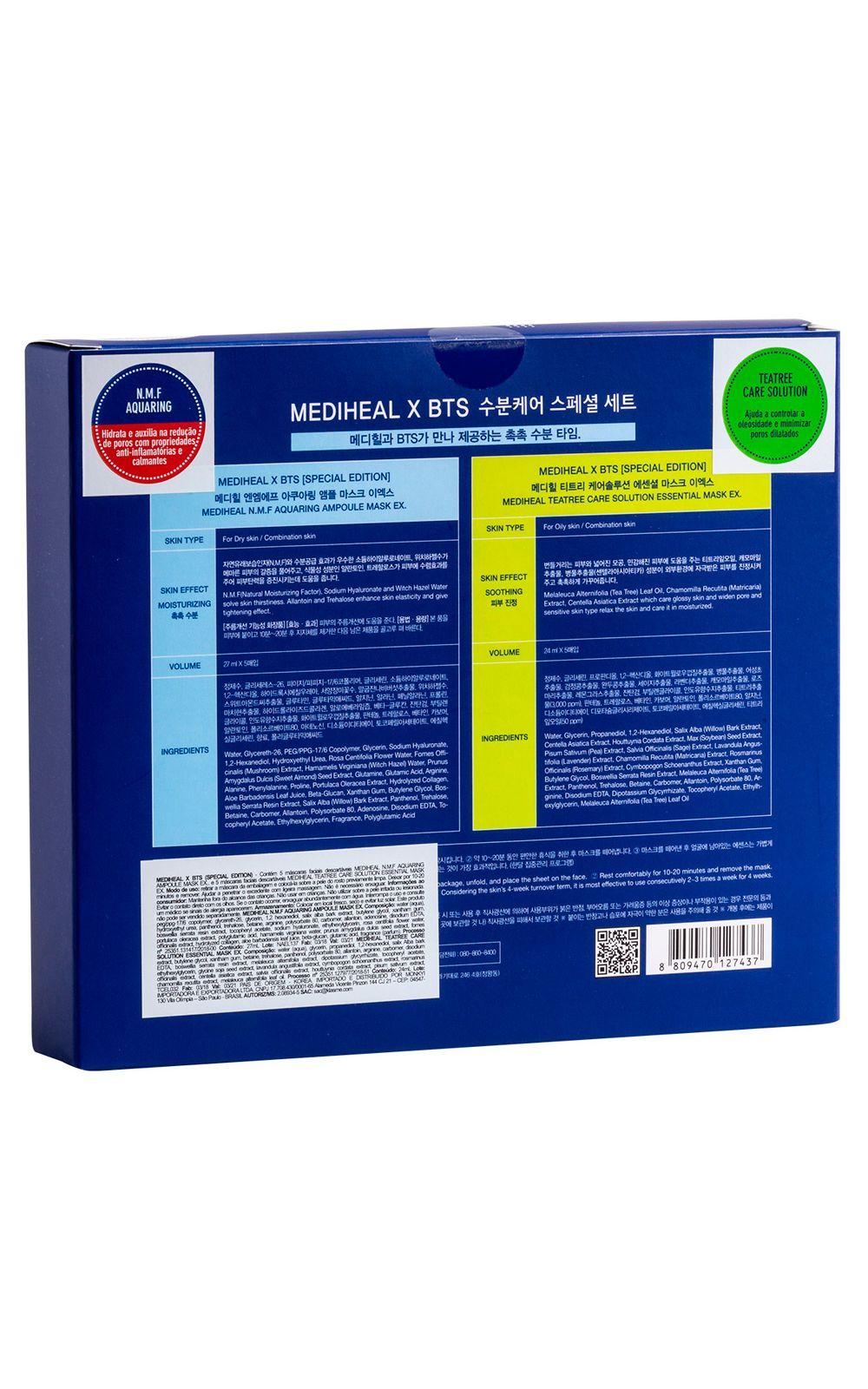 Foto 4 - Mediheal Kit - Máscaras Faciais + Photocard BTS - nenhuma