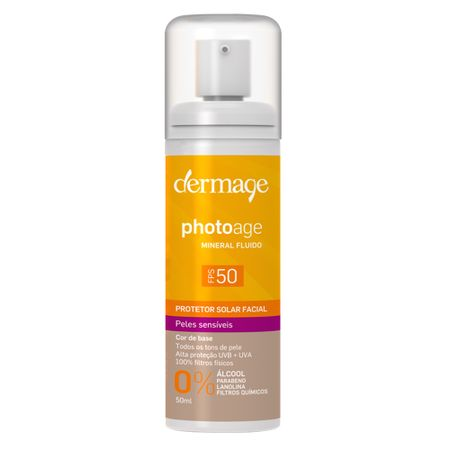 Protetor Solar Dermage - Photoage Mineral Color Fluid FPS 50 - 50ml