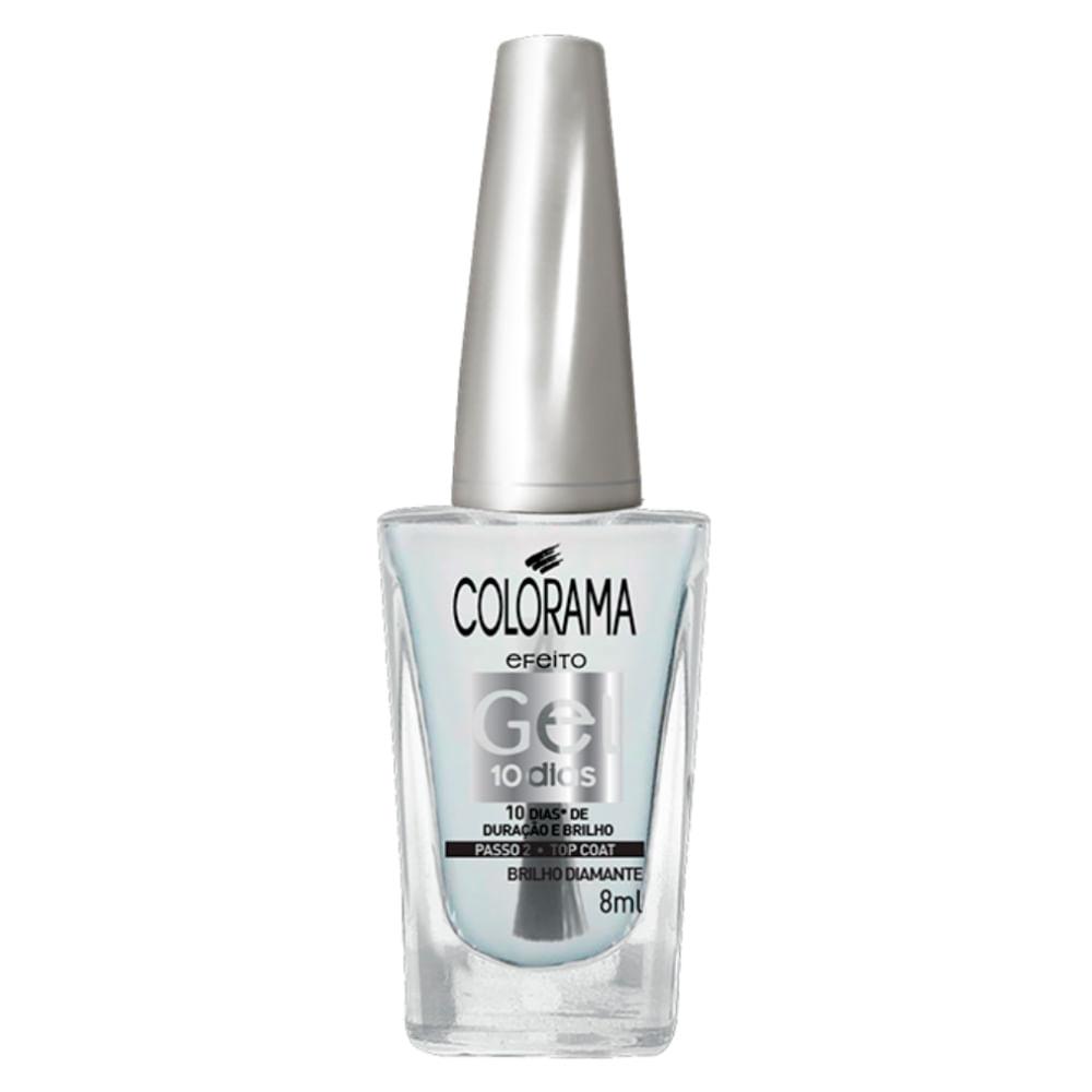 Cobertura Fixadora Colorama - Top Coat Efeito Gel Passo 2 - Incolor