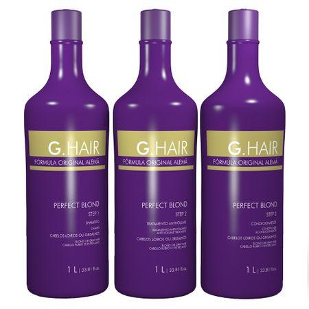 G.Hair Perfect Blond Kit - Shampoo + Condicionador + Tratamento - Kit