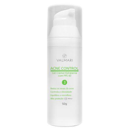 Hidratante Facial Acne Control Gel Creme FPS 40 Valmari - 50g