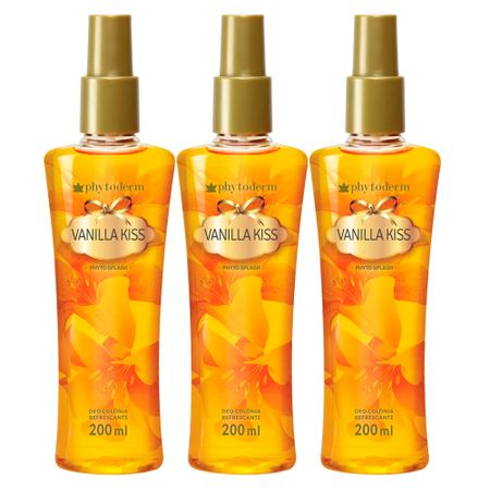 Kit Phytoderm - 3x Deo Colônia Feminino Pure Secret Phyto Splash - Kit