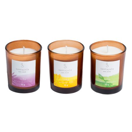 Kit Trio de Velas Santapele - Kit