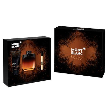 Montblanc Legend Night Kit - Eau de Parfum + Pós-Barba + Roler Ball - Kit