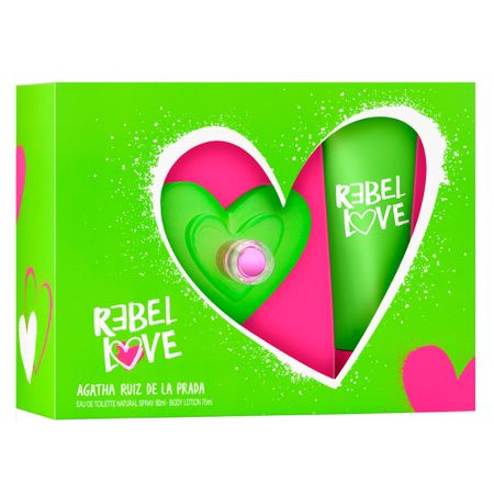 Agatha Ruiz de La Prada Rebel Love Kit - Perfume EDT + Body Lotion - Kit