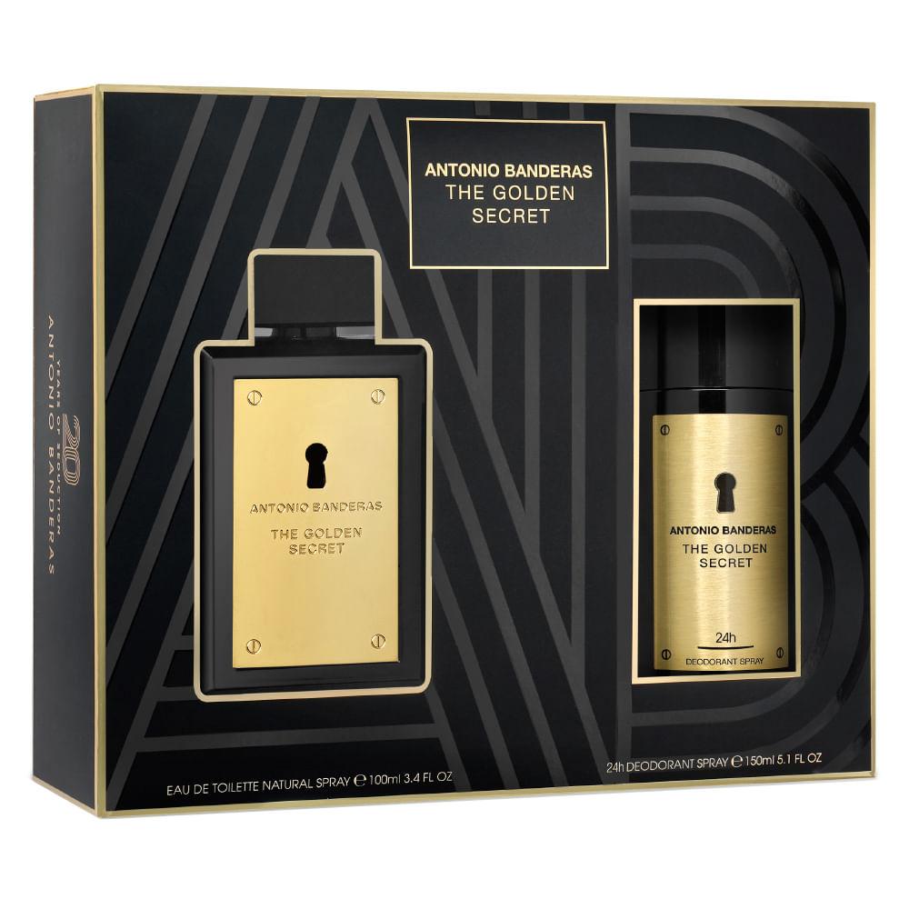 ae8c82c18 Kit The Golden Secret Antonio Banderas - EDT + Desodorante - Época  Cosméticos