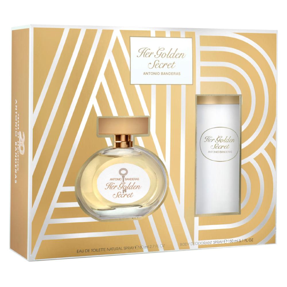 c1e8c211d Kit Antonio Banderas Her Golden Secret - EDT + Desodorante - Época ...