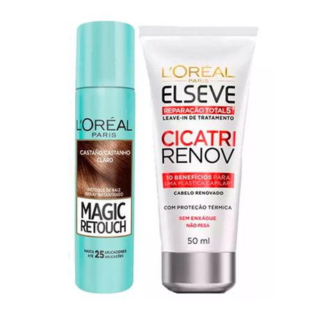L'Oréal Paris Magic Retouch + Cicatri Renov Kit - Leave-In + Corretivo Capilar...