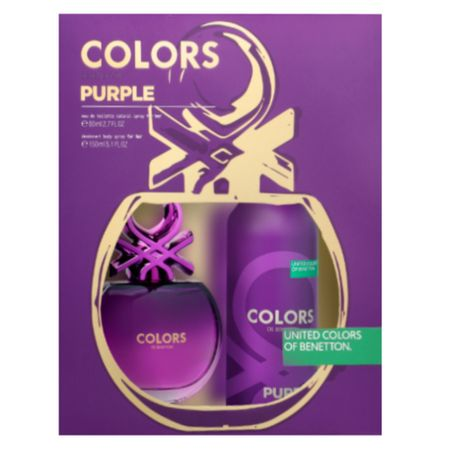 Benetton Colors Purple Kit - EDT 80ml + Desodorante - Kit