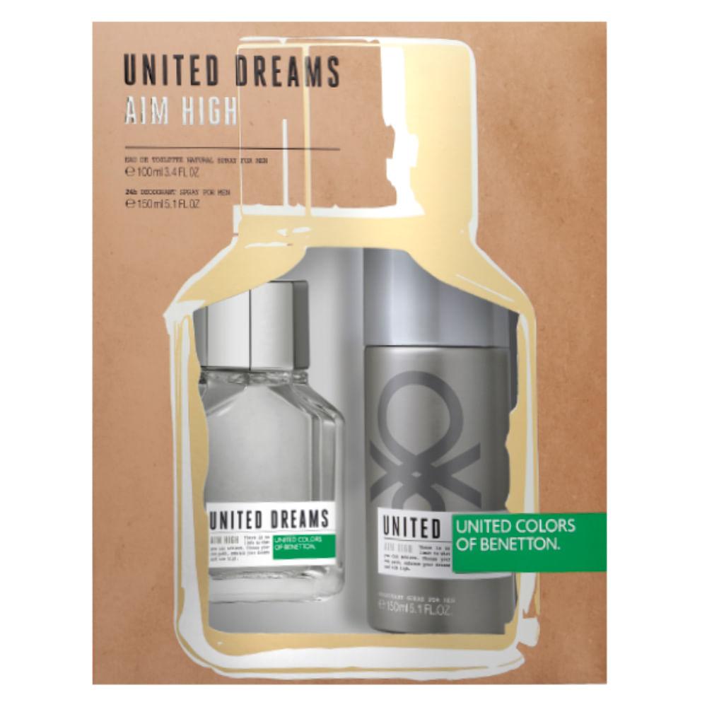 0c36d885e Kit Benetton United Dreams Aim High - Eau de Parfum + Desodorante - Época  Cosméticos