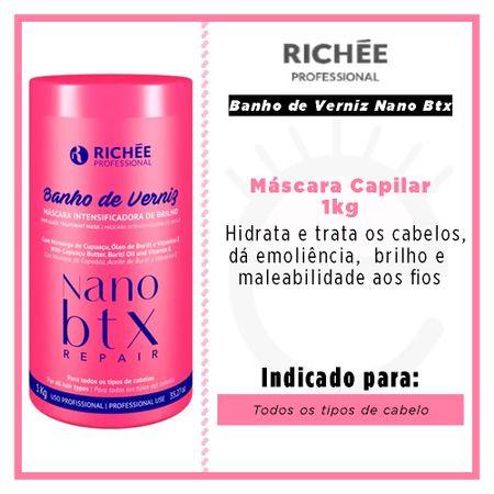 Richée Professional Banho de Verniz Nano Btx - Máscara Capilar - 1kg