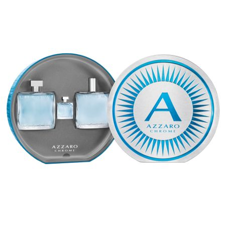 Azzaro Chrome Kit - Eau de Toilette + Pós-Barba + Miniatura - Kit