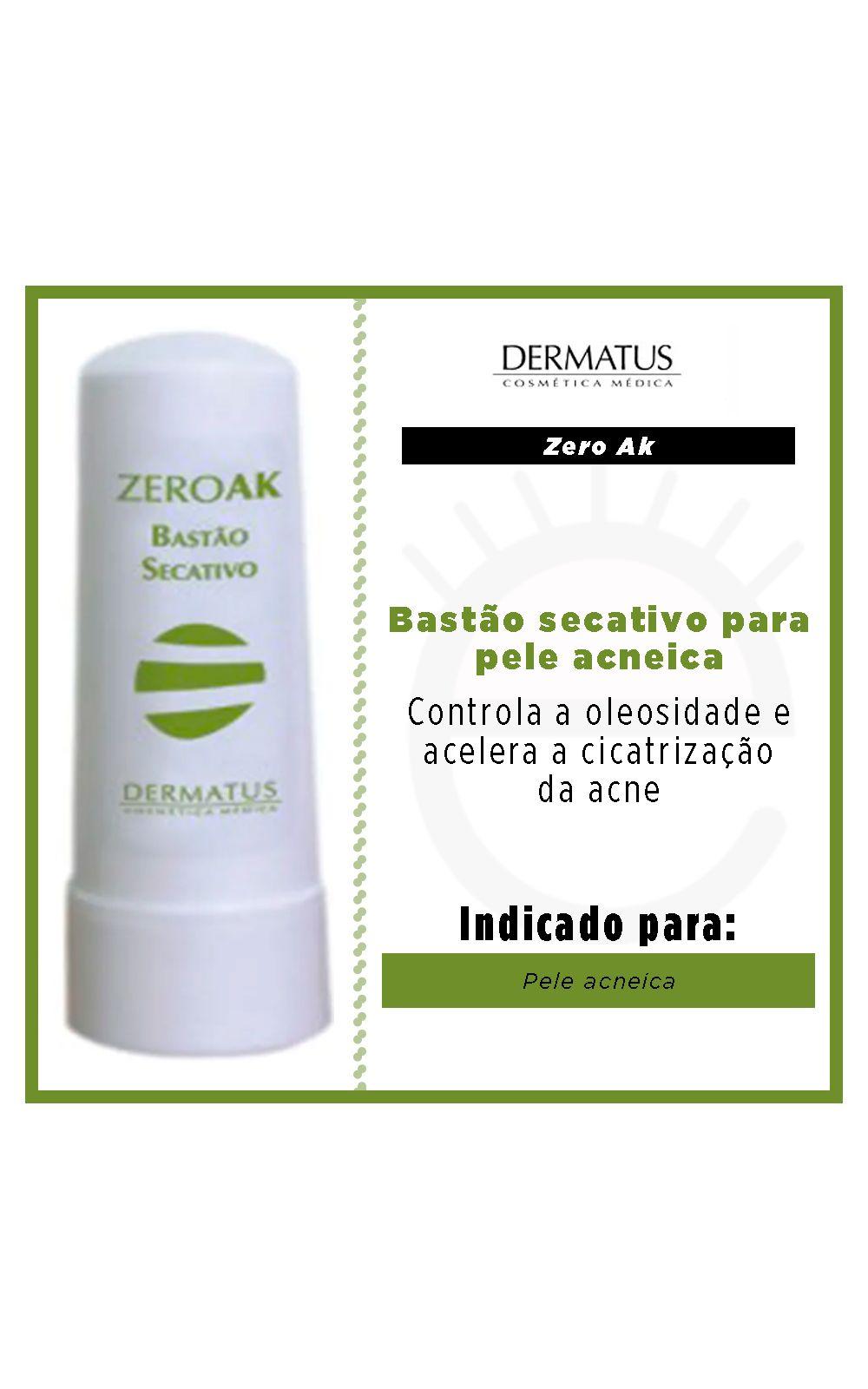 Foto 2 - Zero Ak Bastão Secativo Dermatus - Pele Acneica - 4g