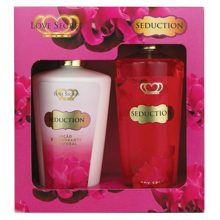 Love Secret Seduction Kit - Loção Corporal + Body Splash - Kit