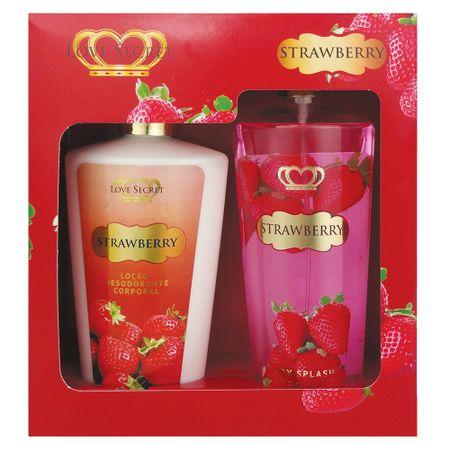 Love Secret Strawberry Kit - Loção Corporal + Body Splash - nenhuma