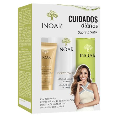 Inoar Body Care Cuidado Diário Kit - Creme + Sabonete + Gel Creme - Kit