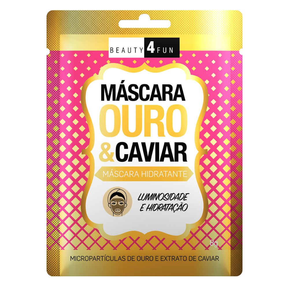 Máscara Facial Beauty 4 Fun Ouro e Caviar