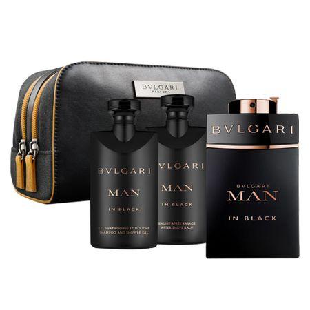 BVLGARI Man in Black Kit - EDT + Shower Gel + After Shave + Necessaire - Kit
