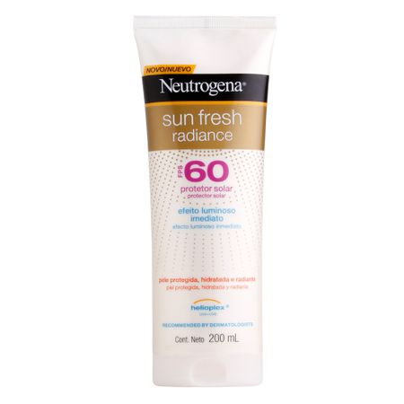 Protetor Solar Neutrogena Sun Fresh Radiance FPS60 - 200ml