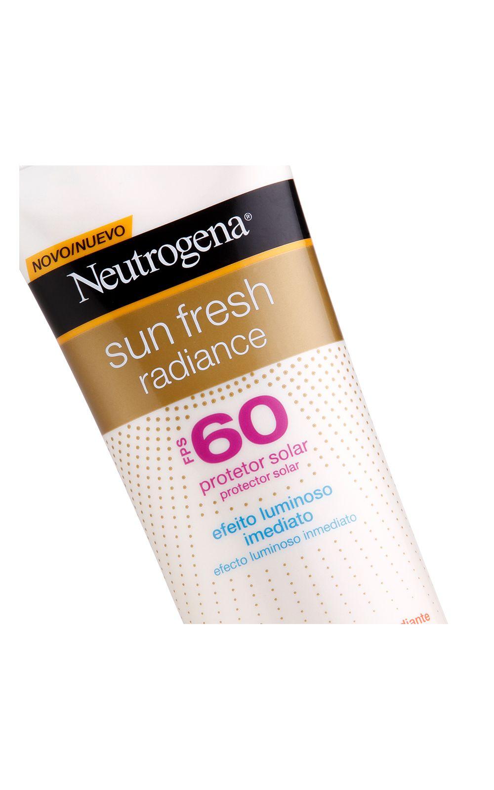 Foto 2 - Protetor Solar Neutrogena Sun Fresh Radiance FPS60 - 200ml