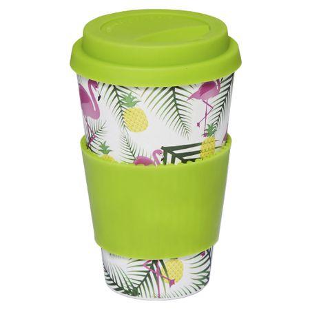 Copo Eco Océane - Bamboo Cup Flamingos - nenhuma