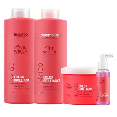 Kit Invigo Color Brilliance Tamanho Profissional Wella - Shampoo +...