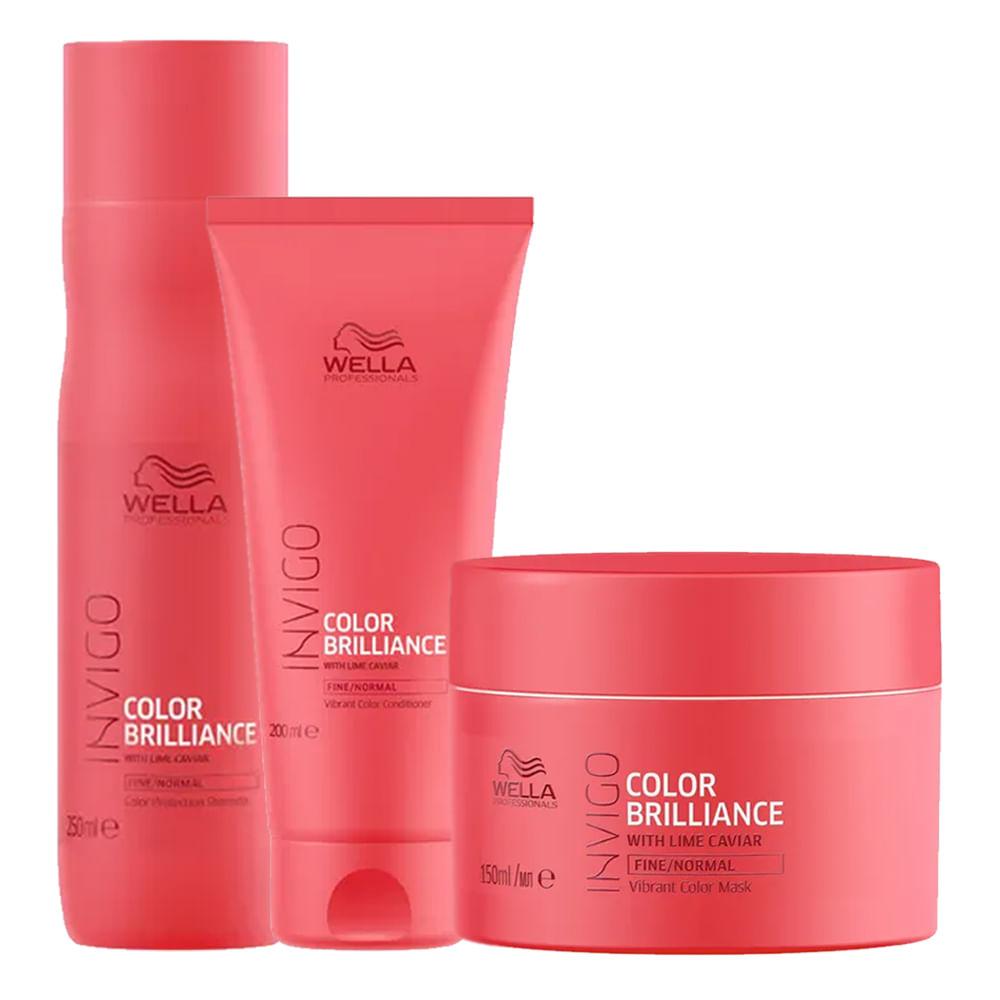Kit Invigo Color Brilliance Wella - Shampooo + Condicionador + Máscara