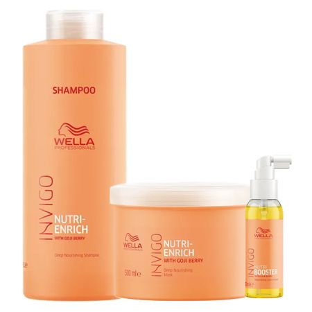 Wella Professionals Invigo Nutri-Enrich Kit - Shampoo + Máscara + Sérum - Kit