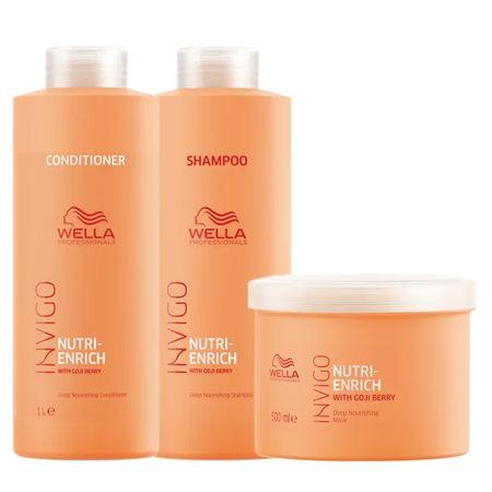 Wella Professionals Invigo Nutri-Enrich Kit - Shampoo + Condicionador + Máscara...