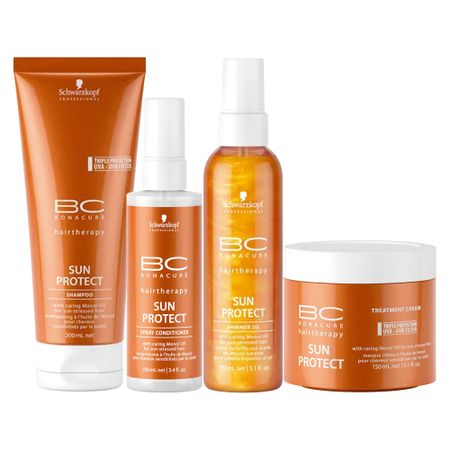Schwarzkopf Professional BC Bonacure Sun Protect  Kit - Shampoo + Óleo +...
