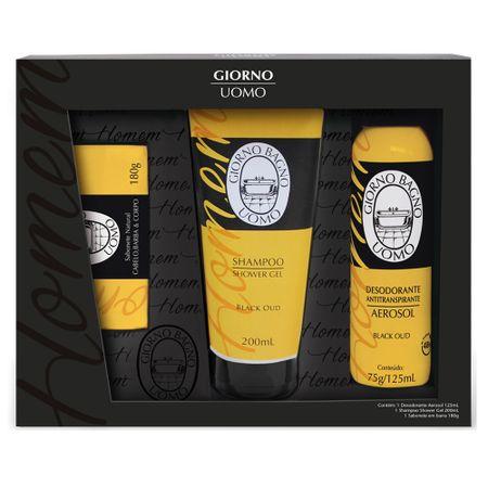 Giorno Uomo Black Oud Kit - Sabonete + Shampoo + Desodorante - Kit