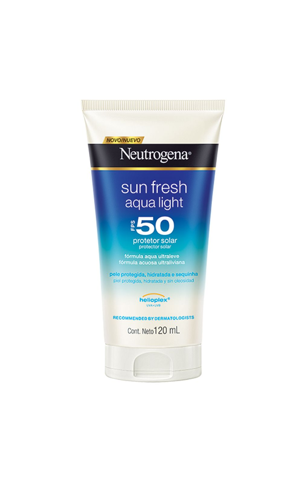 Foto 1 - Protetor Solar Neutrogena Sun Fresh Aqua Light FPS50 - 120ml