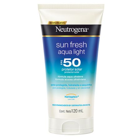 Protetor Solar Neutrogena Sun Fresh Aqua Light FPS50 - 120ml