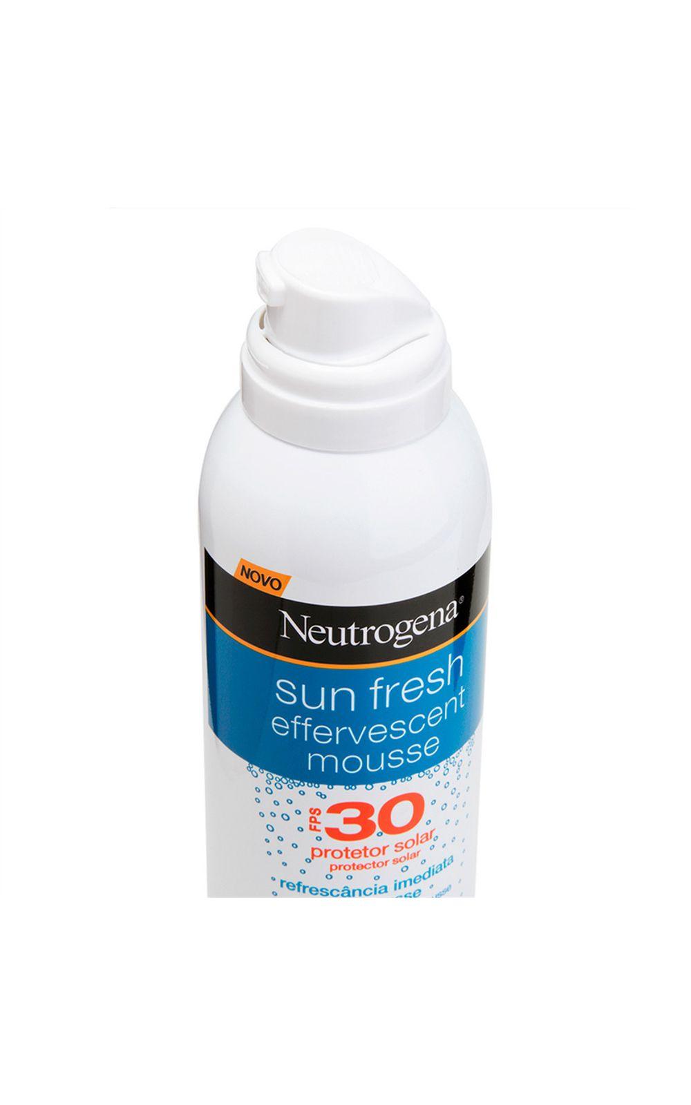Foto 2 - Protetor Solar Neutrogena Sun Fresh Mousse Efervescente FPS 30 - 200ml