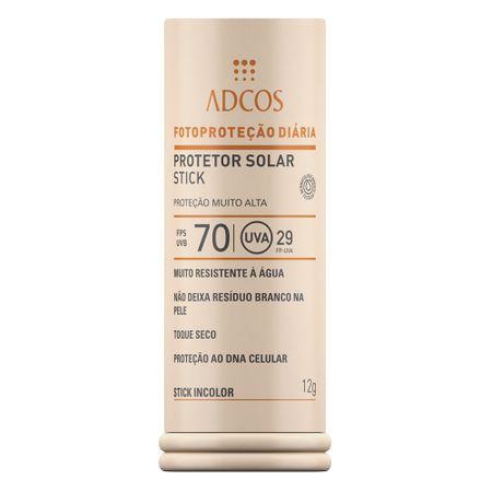 Protetor Solar Stick IncolorFPS 70 Adcos - 12g