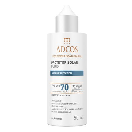 Protetor Solar Shield Protection FPS 70 Fluid Incolor Adcos - 50ml