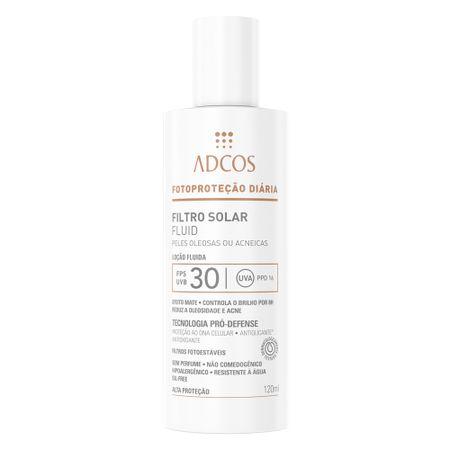 Adcos Filtro Solar Fluid FPS30 Peles Oleosas e Acneicas - 120ml