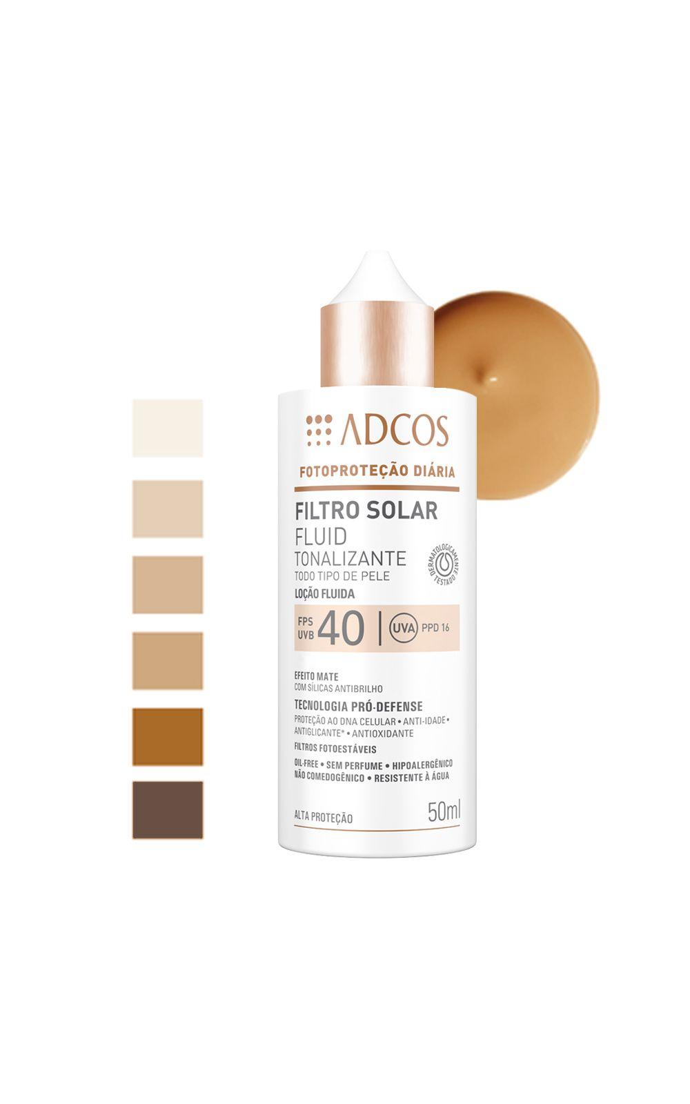 Foto 4 - Adcos Filtro Solar Fluid Tonalizante Fps40 - Bronze