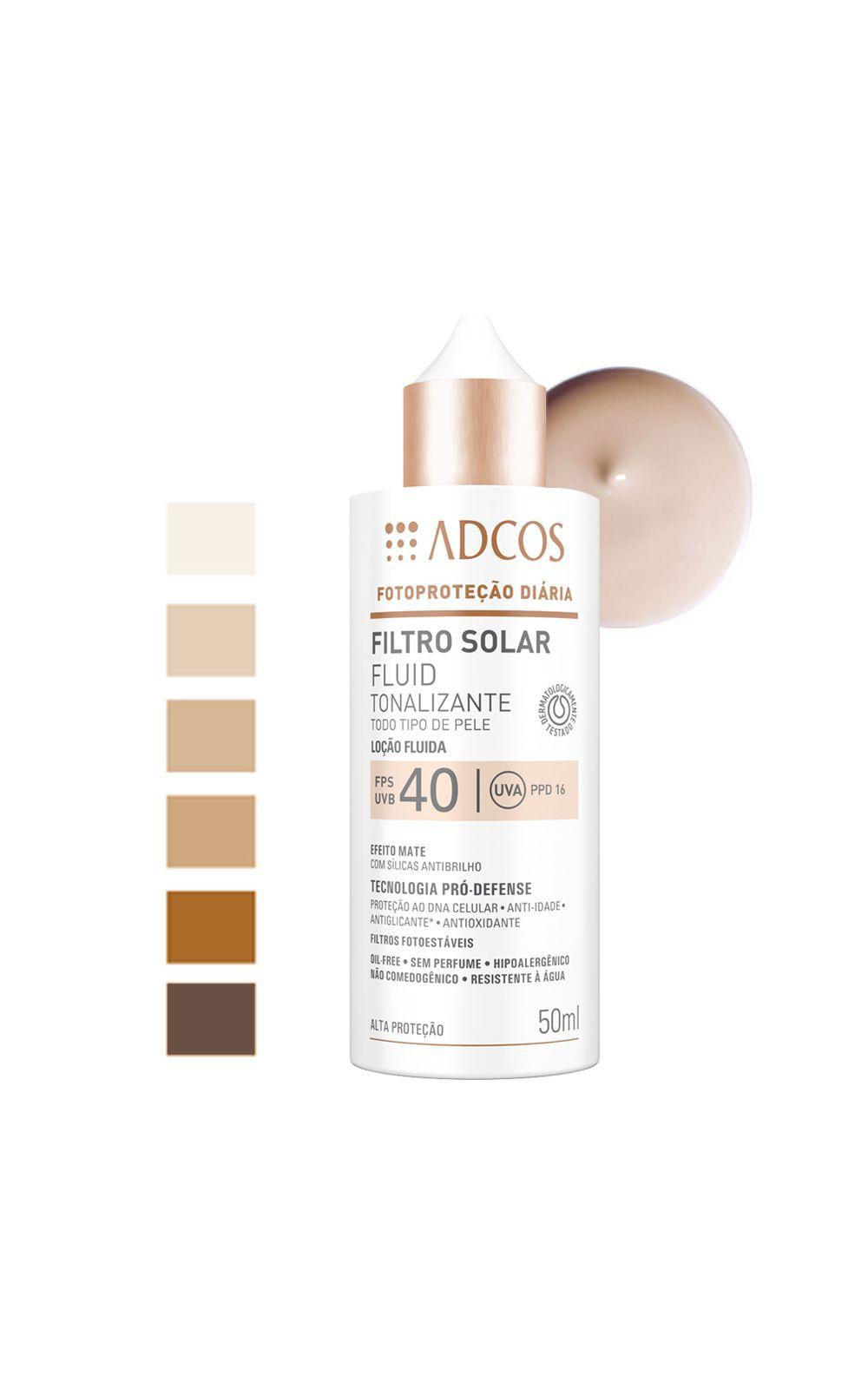 Foto 4 - Adcos Filtro Solar Fluid Tonalizante Fps40 - Peach