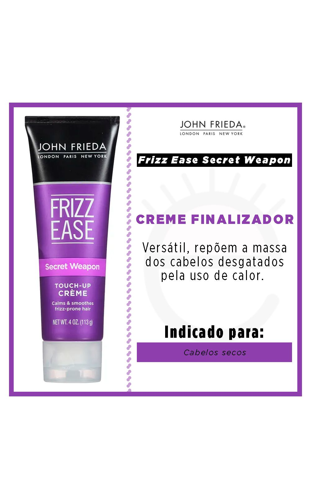 Foto 2 - John Frieda Secret Weapon - Creme para Pentear - 113g