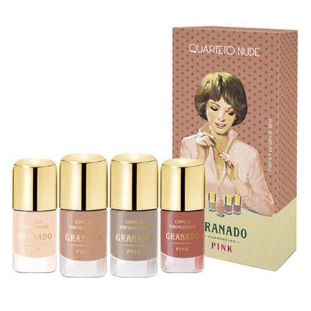 Quarteto de Esmaltes Granado - Nude Pink - Kit