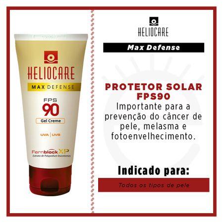 Heliocare Max Defense Gel Creme FPS 90 - Protetor Solar - 50g