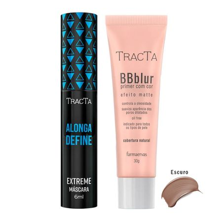 Tracta Extreme BB Blur - Máscara para Cílios + BB Blur Escuro - Kit