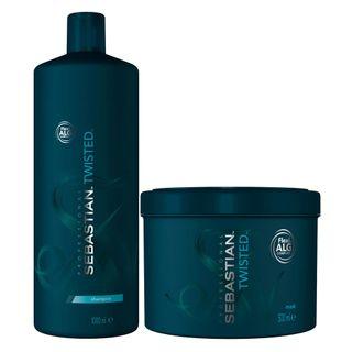 Kit-Twisted-Elastic-Detangler-Sebastian---Shampoo---Mascara---Tamanho-Profissional